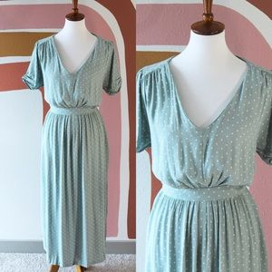 H&M polka dot dress in mint